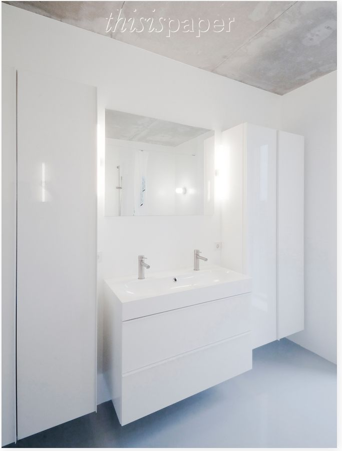 Clean white bathroom decor
