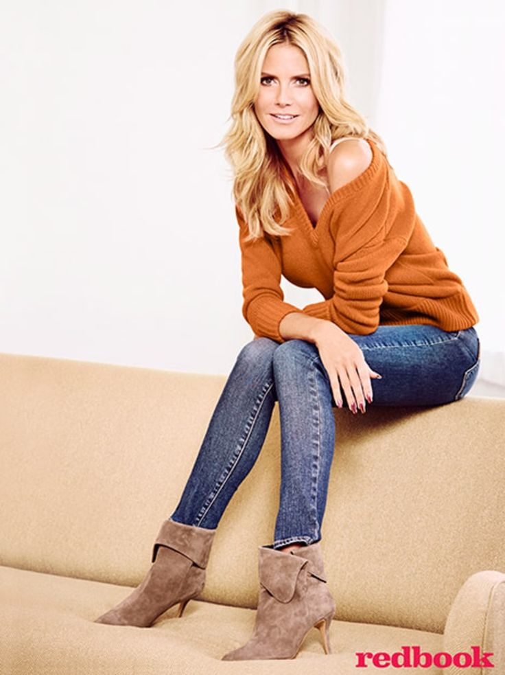 I admire Heidi Klum for her emotional strength. She puts her children first, she's a hard worker and she contributed toward an amicable divorce.