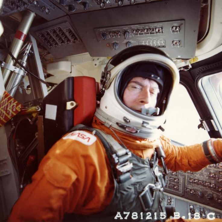 STS-1 training. Astronaut John Young.