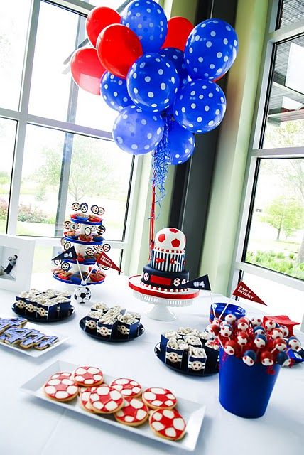 Soccer Themed Party #party #soccer
