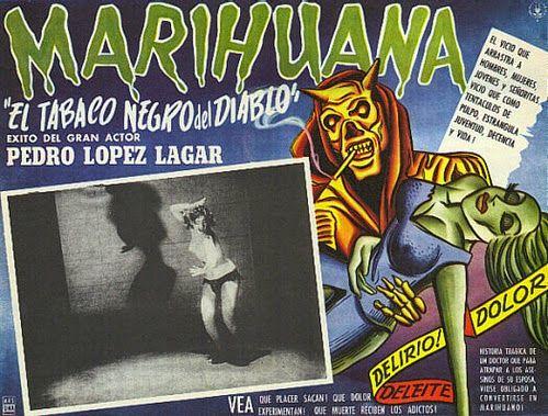 Cartel de cine: Marihuana (1950) (El tabaco negro del diablo)