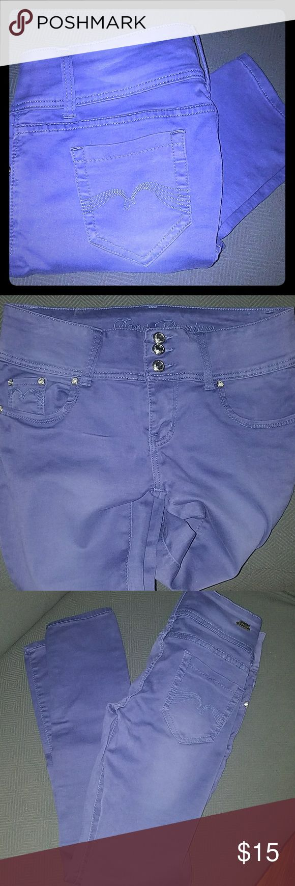Purple Skinny Jeans Size 11 Purple skinny jeans by Roma Premium. 3 button stretchy. Roma Premium Pants Skinny