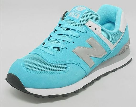 New Balance 574 - Turquoise - Silver - SneakerNews.com   New ...