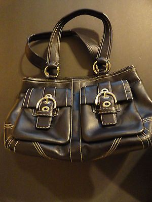Coach-Black-Soho-Double-Pocket-Handbag-Purse-amp-3-coach-parfum-sprays