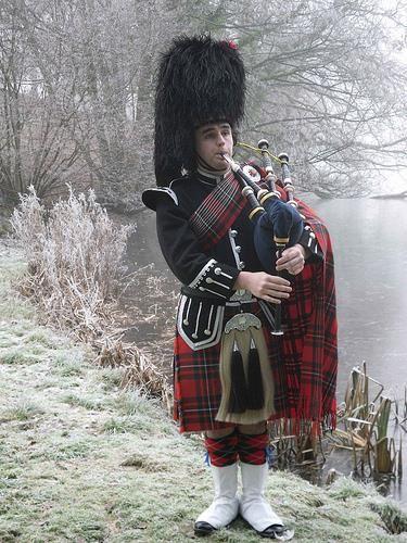Фотографии национального шатландского костюма