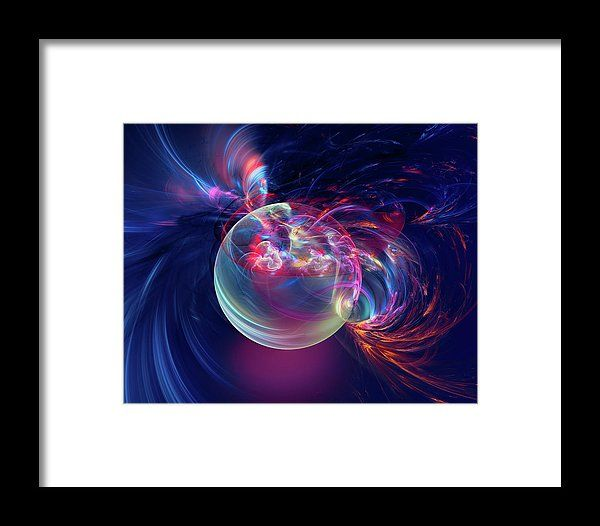 Awakening Of The Planet Framed Print by Marfffa Art.  All framed prints are professionally printed, framed, assembled, and shipped within 3 - 4 business days and delivered ready-to-hang on your wall. Choose from multiple print sizes and hundreds of frame and mat options.