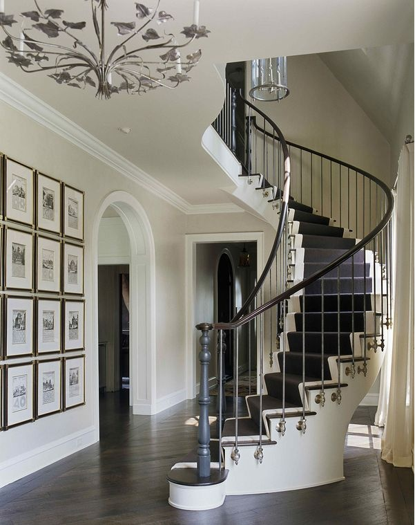 winding staircase and beautiful space.