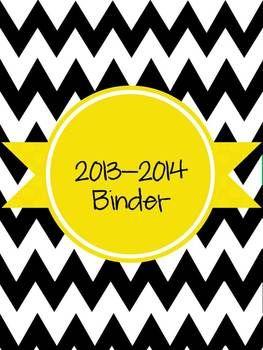 The Ultimate (and Editable) Teacher Binder 2013-2014