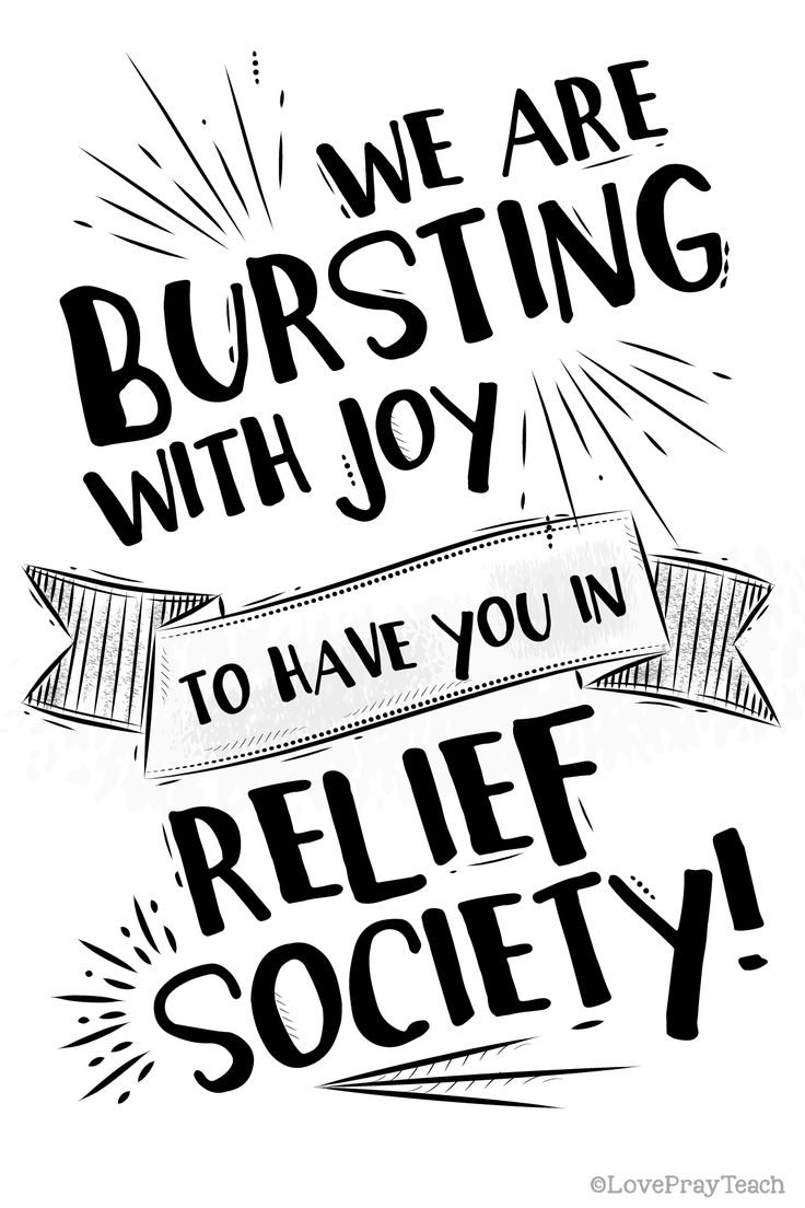 Welcome to Relief Society Handout
