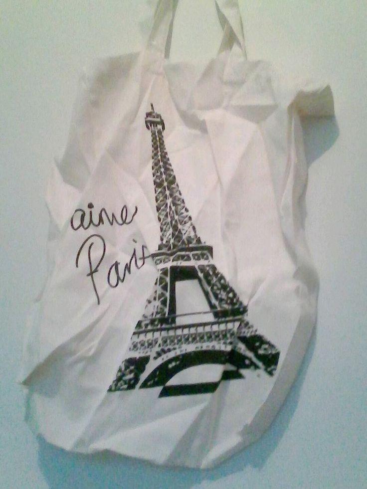 White Paris tote bag in Home & Garden, Kitchen, Dining, Bar, Tupperware | eBay
