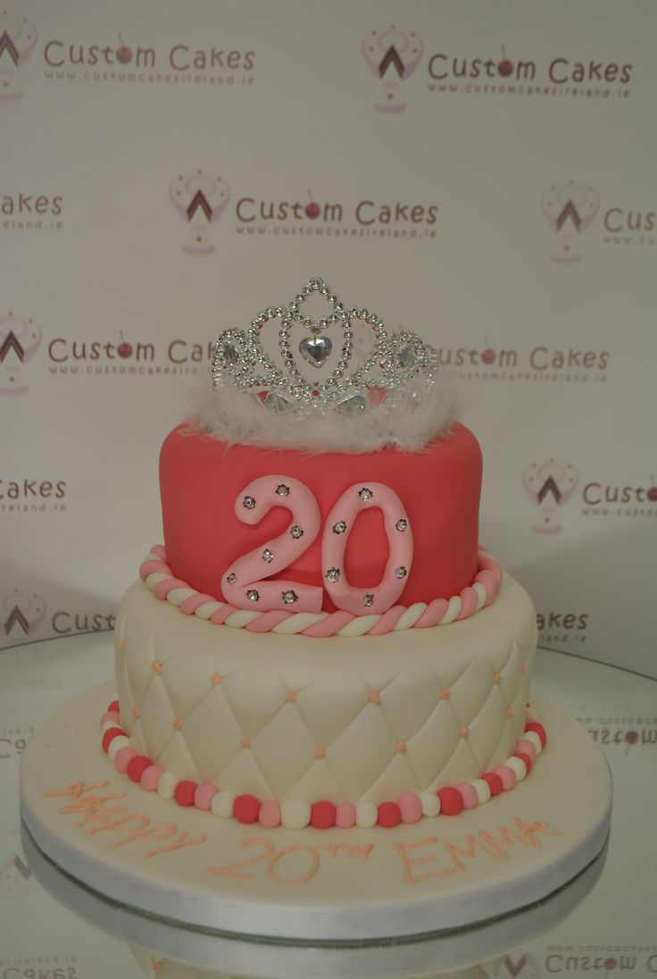 Tiara topped 20th birthday Cake!