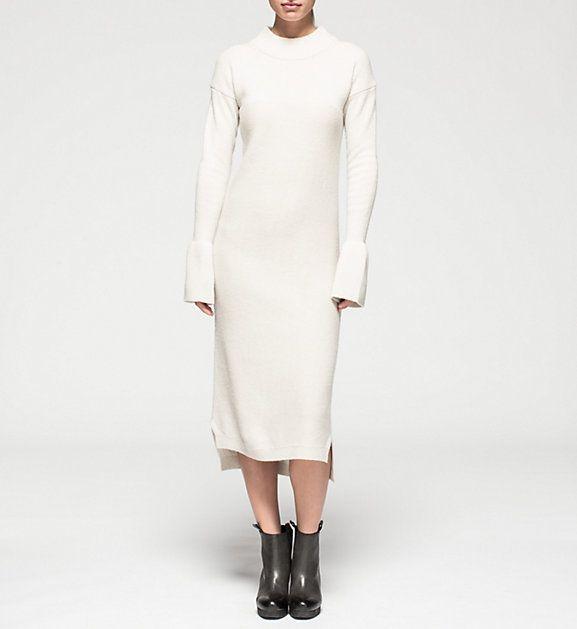 SCHMAL GESCHNITTENES KLEID 'SARALY' AUS WOLLE-MIX Calvin Klein | Offizieller Online Store