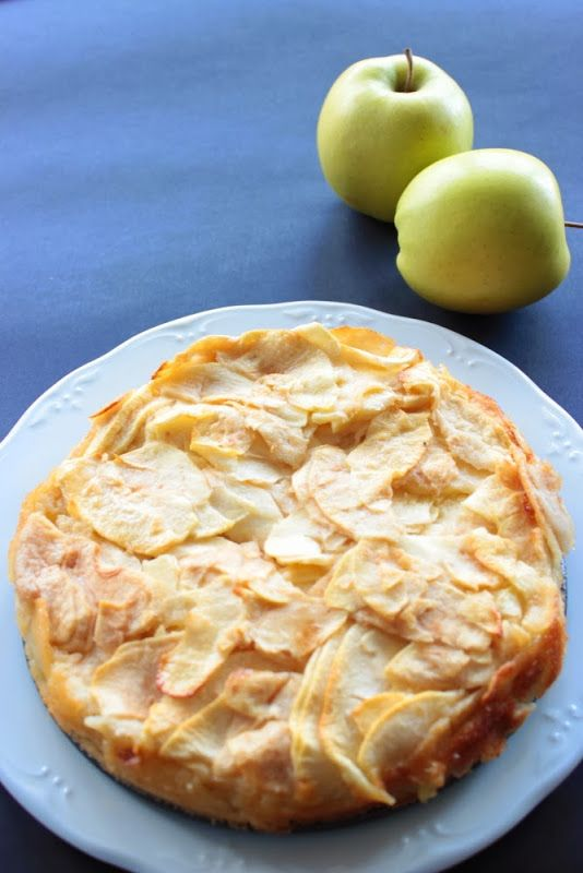 Tarta invisible de manzana