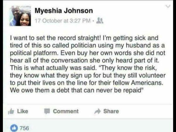 (7) Twitter      here is the gold star's family's post on the trump/frederica wilson story