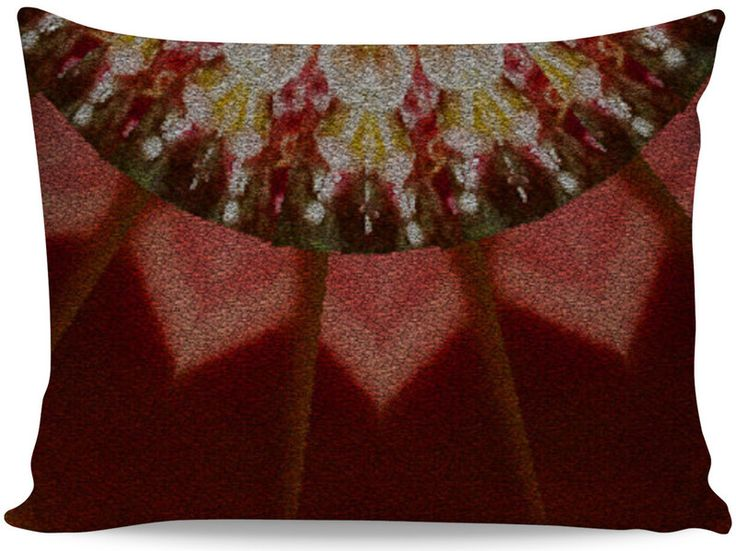 Coloured Gravel in Amber Zoomed Pillow Case by Terrella