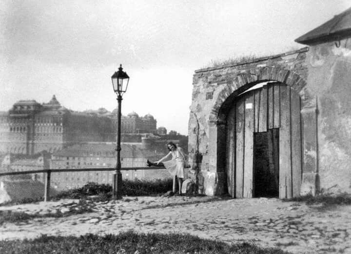 1932. Tabán, Komló uutca. A gellérthegyi bordélyok egyike.
