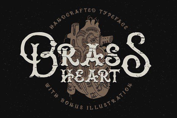 Brass heart font by Gleb Guralnyk on @creativemarket