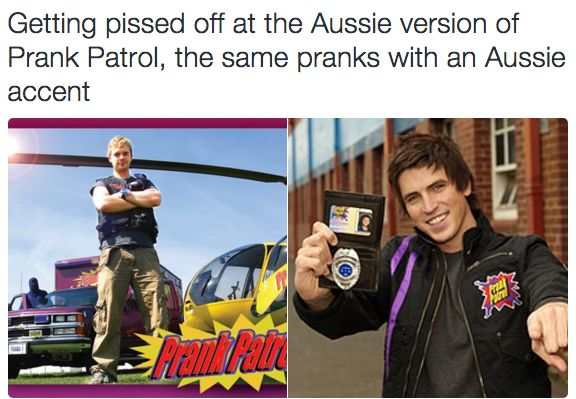 This henious crime. <------ LITERALLY ME ALL WAOM I THAT VERSION! (I don't hate all Australians though...only this guy :P) | 31 Things That Won't Make Sense If You Didn't Grow Up In Britain