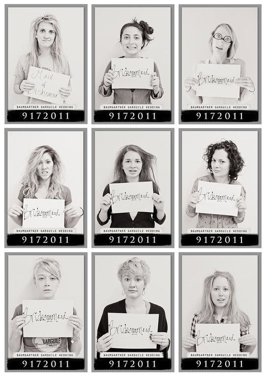 Take morning-after mugshots. Fun bachelorette party pics for your and your girls. Haha love this