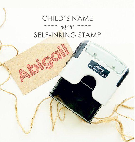 Child S Name Stamper Kids Name Stamp Self Inking Name Stamp