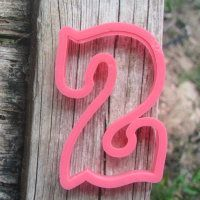 """Cookie cutter """"Number - 2"""" 10 cm"""