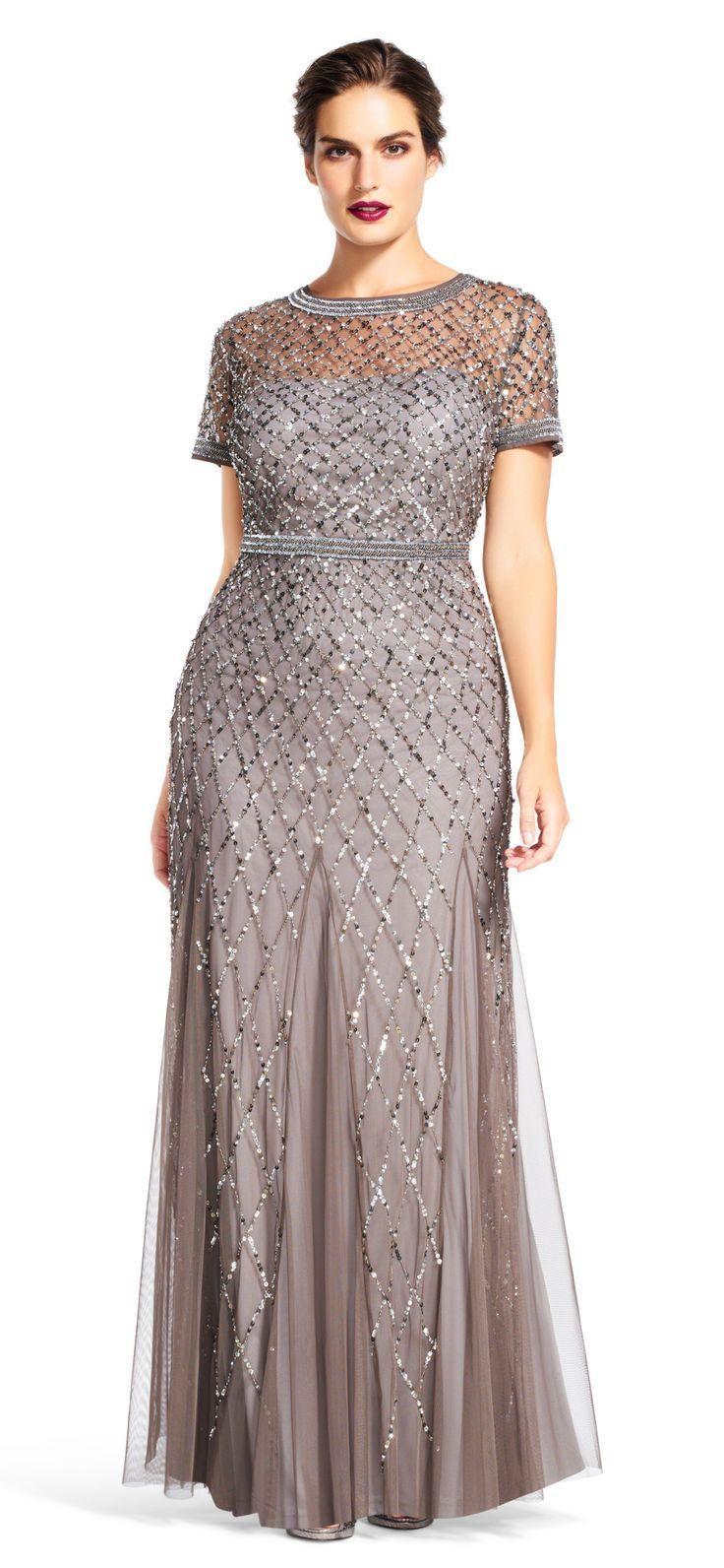 24 Plus Size Long Wedding Guest Dresses {with Sleeves} - Plus Size Gowns with Sleeves - Plus Size Fashion for Women - alexawebb.com #alexawebb