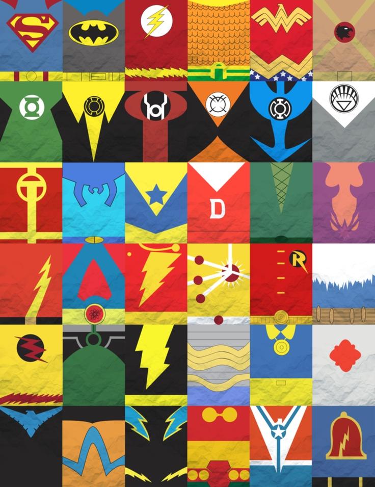 Dc comics minimalist posters geek land pinterest - Poster super heros ...