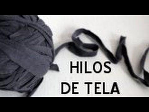 Trapillo, totora, t-shirt yarn, zpaghetti - Cómo reutilizar tu ropa vieja - YouTube