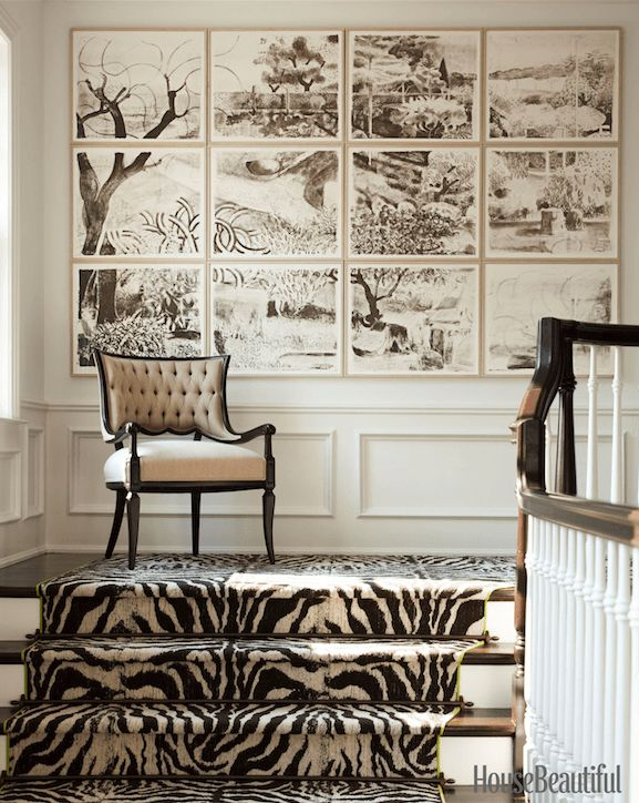 decorating-with-animal-hides-zebra-rug-stairway