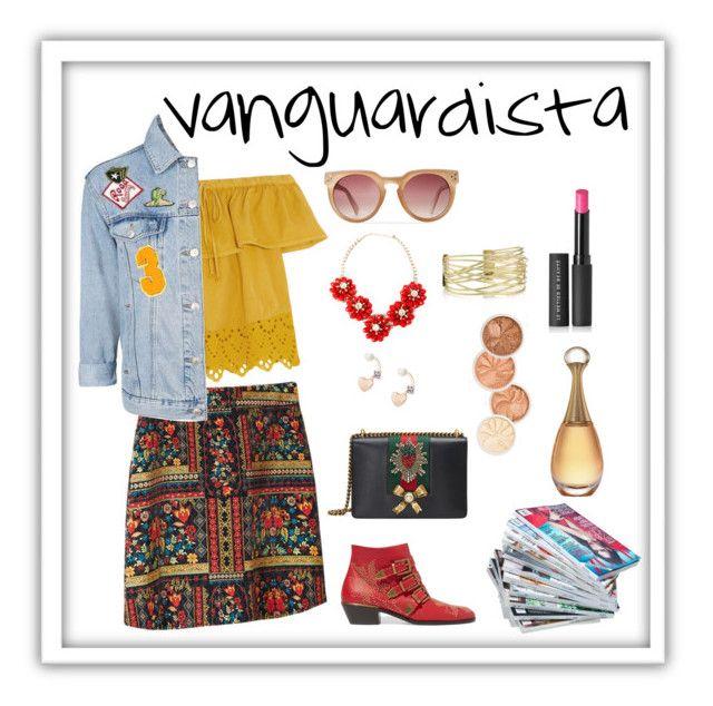 Creativo Vanguardista by carlablasco on Polyvore featuring moda, Madewell, Topshop, Chloé, Gucci, Lipsy, Le Métier de Beauté and H&M