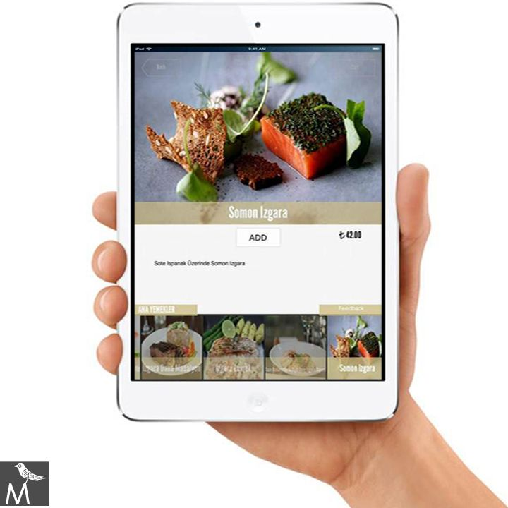 The Marmara Collection prefers iPad Mini for their menus.