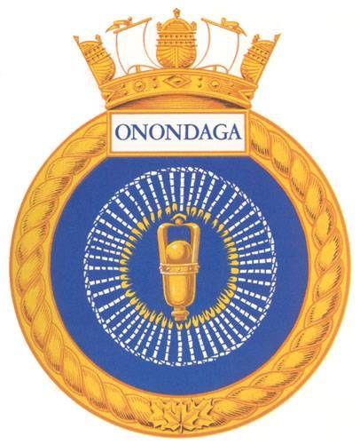 HMCS ONONDAGA Badge - The Canadian Navy - ReadyAyeReady.com