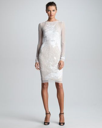 Sheer Embroidered Dress by Emilio Pucci at Neiman Marcus.