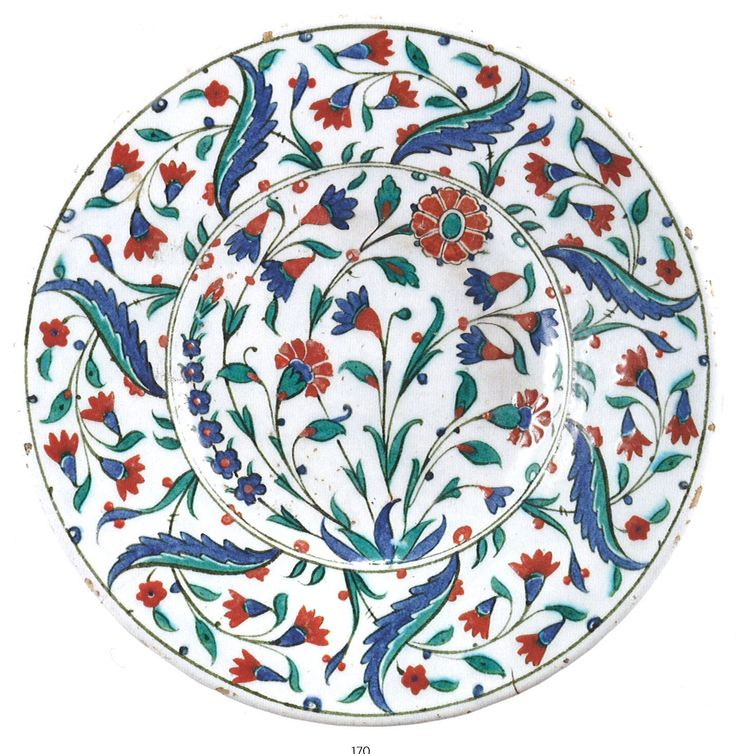 A polychrome Iznik pottery dish, Turkey, second half 16th Century. Arts of the Islamic World - Sotheby's Catalogue, 9th April 2014