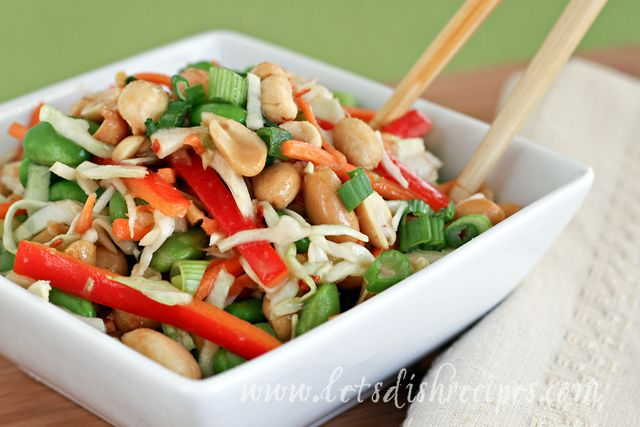 Asian Slaw With Ginger Peanut Dressing Recipes — Dishmaps