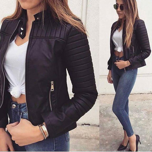 خرید آنلاین از حراجی های ترکیه Yine Yeni Yeniden Formula Deri Ceket 119 99tl قیمت واطلاعات بیشترازطریق دایرکت یاتلگرام شماره تل Fashion Leather Jacket Outfits