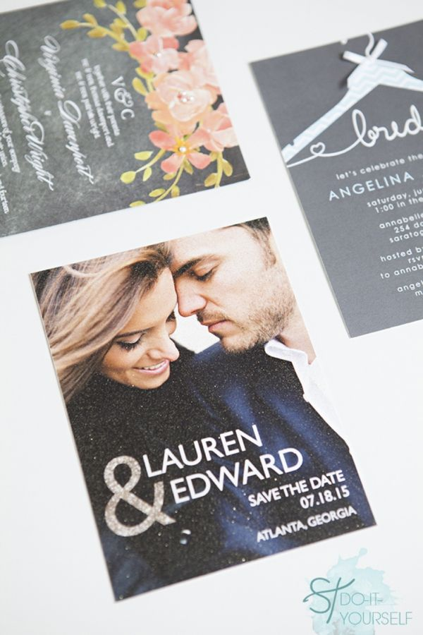 Simple DIY Wedding // easily embellish 'store bought' wedding invitations with Wedding Paper Divas! *three different ideas!