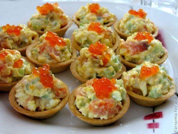 Тарталетки Рыбная мозаика, рецепты с фото | Вкусняшки ...