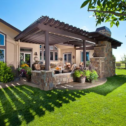 Pergola over patio. Love both.