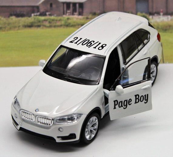 Wedding Day Gift Personalised Name Page Boy Usher Best Man BMW X5 Toy Car Boxed