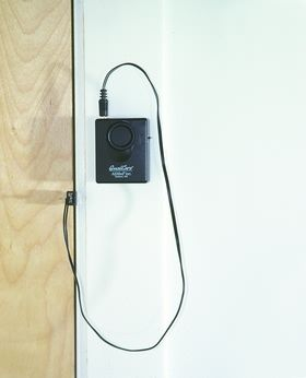 This is a perfect device used to alert family members when their loved one is wandering out of the house.    Simply attach the wander door alarm to the frame of the door and place the signal unit in the door jam.  The alarm will activate when the door is opened. The alarm is loud enough to hear anywhere in the home. Repinned by  SOS Inc. Resources  http://pinterest.com/sostherapy.