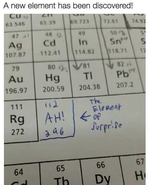 Bad/Funny Science Jokes <<< I am ashamed of laughing at these