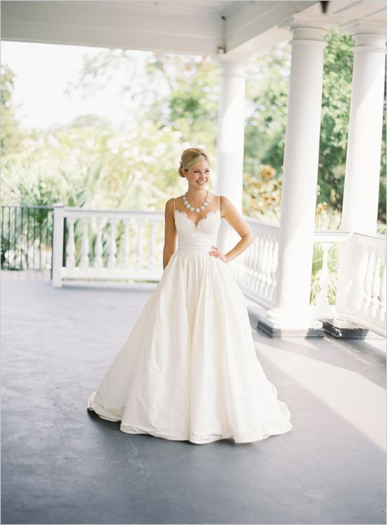 Amsale. Like the backdrop. WOuld be great to find a venue that is southern plantation looking. The home could house the wedding party preparations. The acreage could house the ceremony and the tent for the reception.