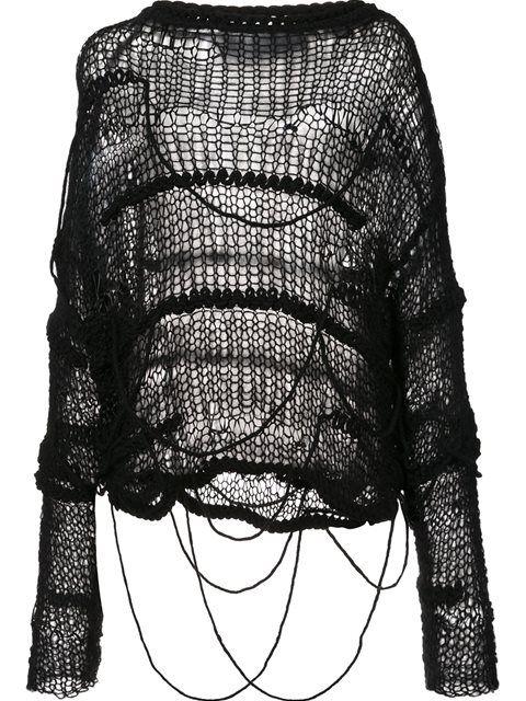 Shop Isabel Benenato chunky knit jumper .