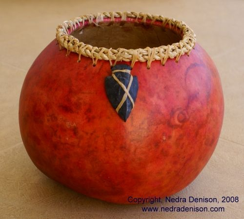 Gourd art arrowhead gourd by nedra denison art for Southwest arts and crafts