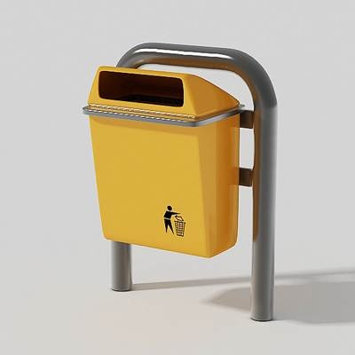 Trash can yellow