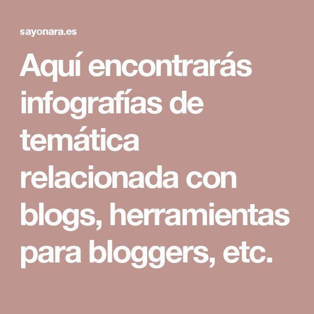 Aquí encontrarás #infografias de temática relacionada con #blogs, herramientas para #bloggers, etc.