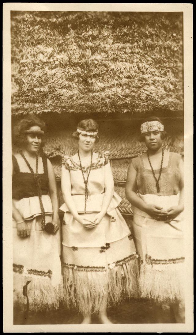 "Margaret Mead standing between two Samoan girls, 1926. Born December 16, 1901 Died: November 15, 1978, she was one of the most popular anthropologists of all time. ""Margaret Mead was just 26 years old when she published her first book, `Coming of Age in Samoa' about adolescence in the South Seas."""