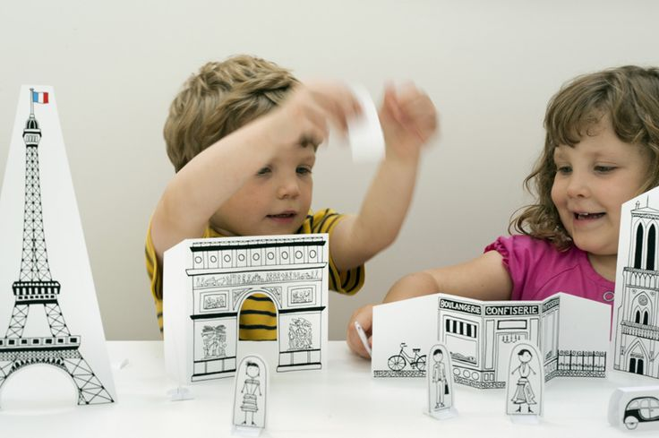 Free printable Paper City Paris courtesy of Made by Joel, also has some wonderful colouring sheets.