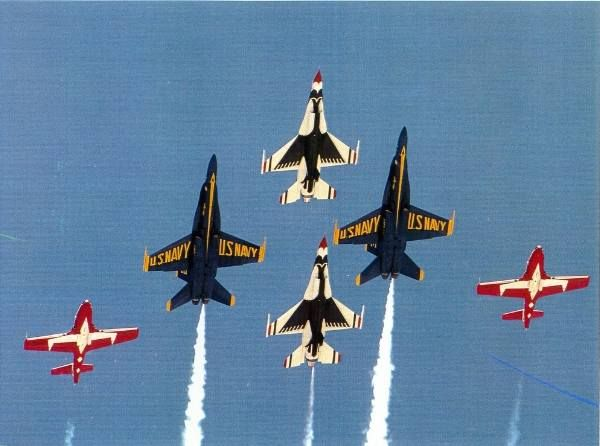 Snowbirds, Blue Angels and Thunderbirds